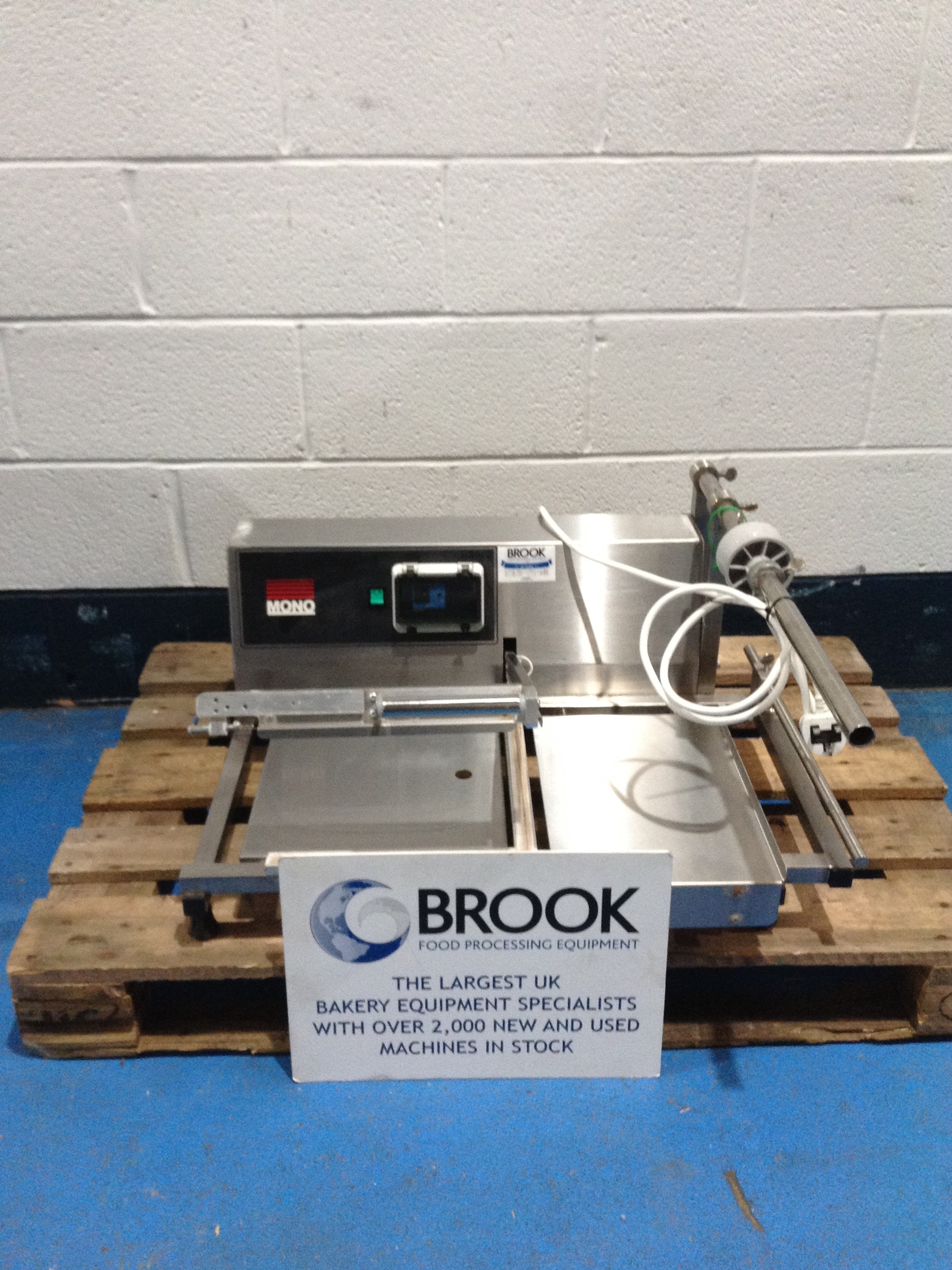 MONO TABLE TOP L SEALER, ALL STAINLESS 400MM X 400MM SEAL AREA, SERVICED AND TESTED