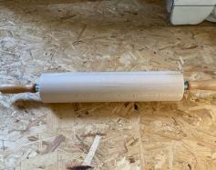 Beechwood rolling pin with rotating handles