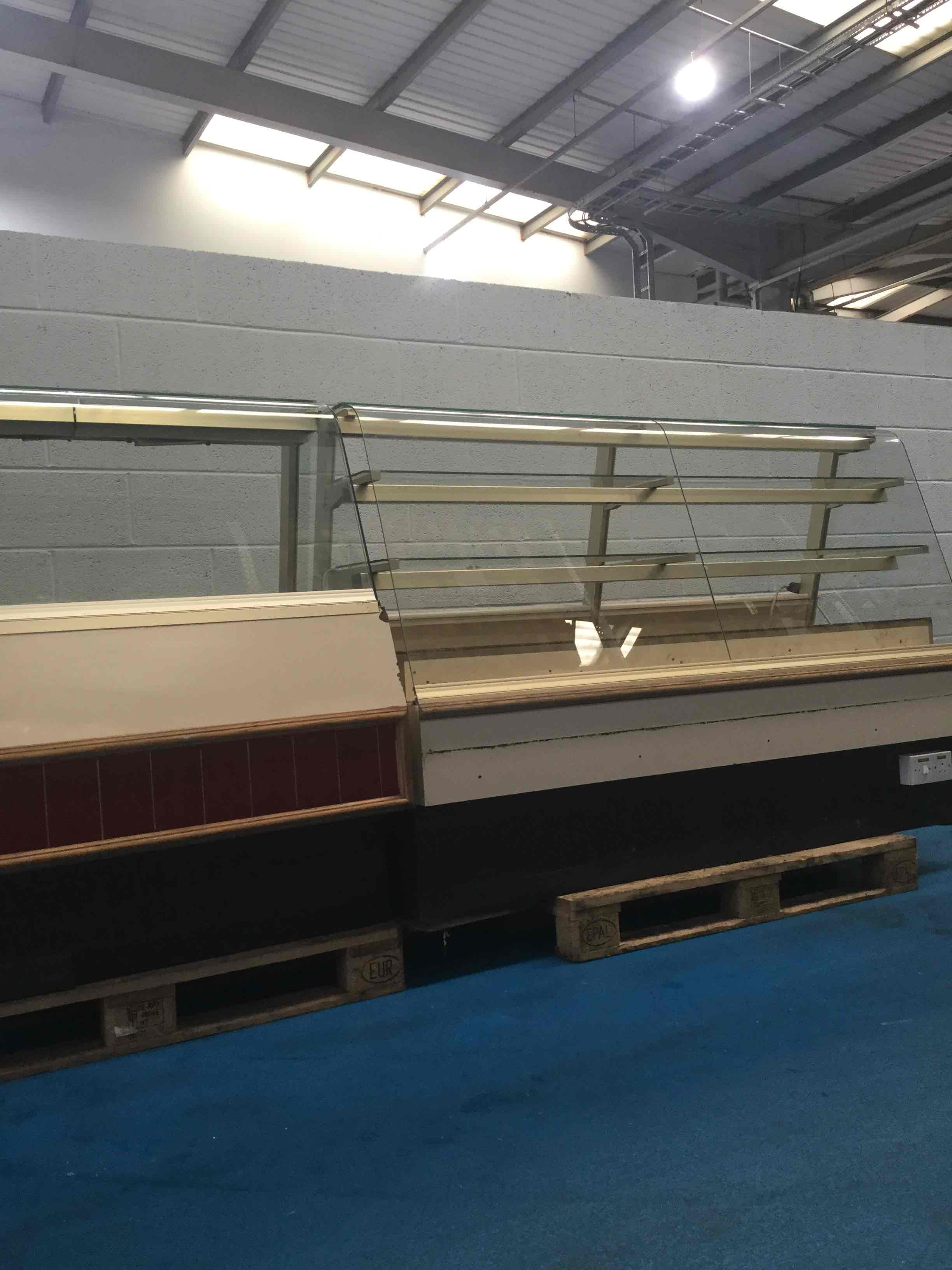 HOT AND COLD SHOP COUNTERS 2M AND 1M, TIDY USEABLE CONDITION, AS IS